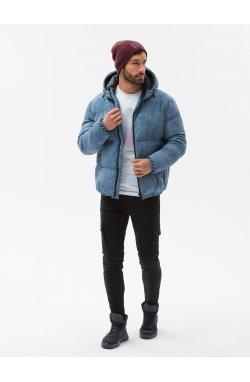 Мужская зимняя куртка C529 - синий - Ombre