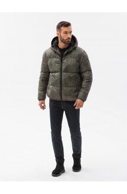 Мужская зимняя куртка C529 - хаки - Ombre
