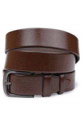 Добротный кожаный мужской ремень Vintage 20709 Коричневый