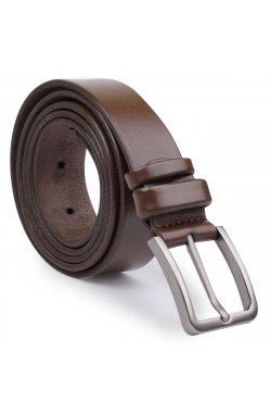 Стильный кожаный мужской ремень батал Vintage 20713 Коричневый