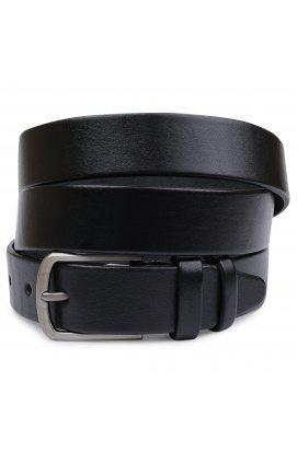 Гладкий батальный мужской ремень Vintage 20716 Черный