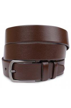 Кожаный строгий мужской ремень Vintage 20717 Коричневый