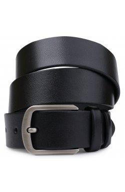 Кожаный стильный ремень для мужчин Vintage 20725 Черный