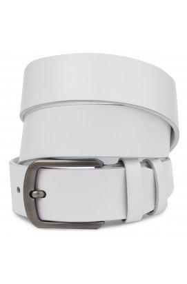 Ремень кожаный унисекс Vintage 20729 Белый