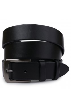 Стильный кожаный мужской ремень Vintage 20747 Черный
