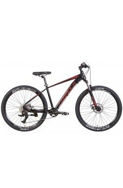 """Горный Велосипед Велосипед AL 27.5"""" Formula ZEPHYR 1.0 AM DD 2022 (черный с красным (м))"""
