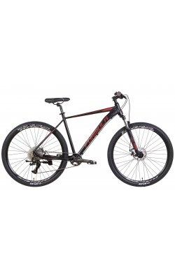 """Горный Велосипед Велосипед AL 29"""" Formula ZEPHYR 1.0 AM DD 2022 (черный с красным (м))"""