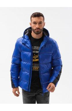 Мужская зимняя куртка C503 - синий - Ombre