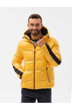 Мужская зимняя куртка C503 - жёлтый - Ombre