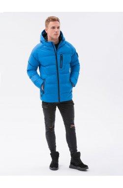 Мужская зимняя куртка C502 - синий - Ombre
