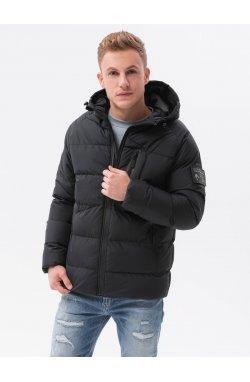 Мужская зимняя куртка C502 - чёрный - Ombre