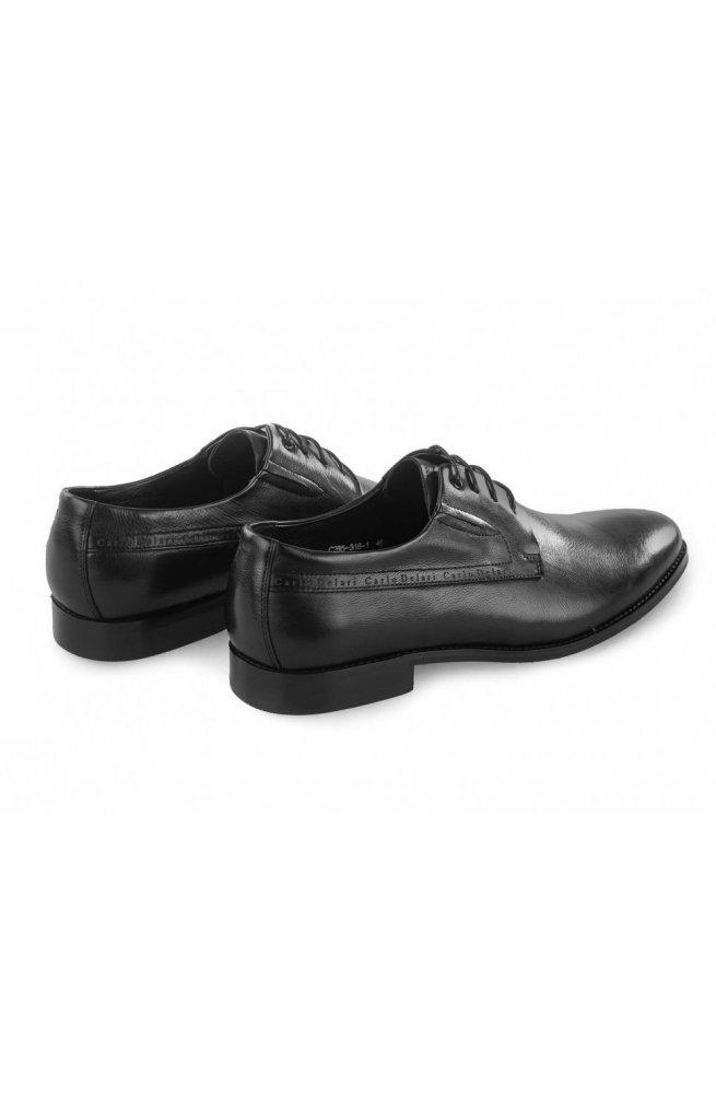 Туфли мужские Carlo Delari 7213008 46 цвет черный, кожа