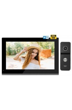 Комплект домофона CoVi Security TAB FHD Wi-Fi Black + Iron FHD Black