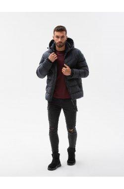 Мужская зимняя куртка C519 - чёрный - Ombre