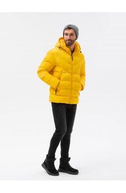 Мужская зимняя куртка C519 - жёлтый - Ombre