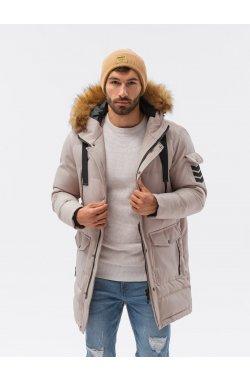 Мужская зимняя куртка C514 - бежевый - Ombre