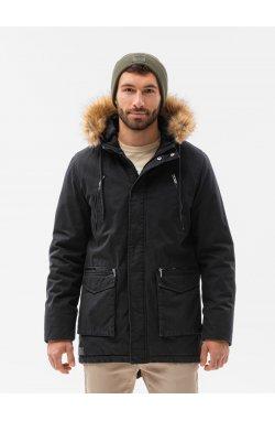 Мужская зимняя куртка C512 - чёрный - Ombre