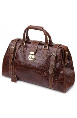 Кожаная дорожная сумка Vintage 14285 Коричневый