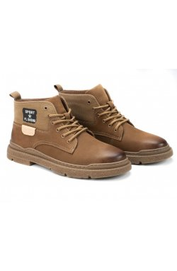 Ботинки мужские Dan Marest 7214166 цвет хаки, кожа