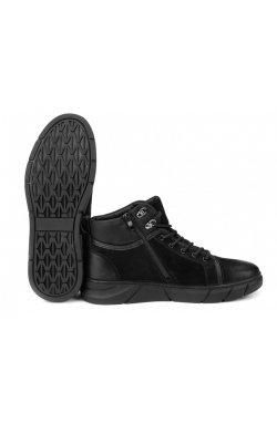 Ботинки мужские Clemento 7214306 цвет черный, кожа
