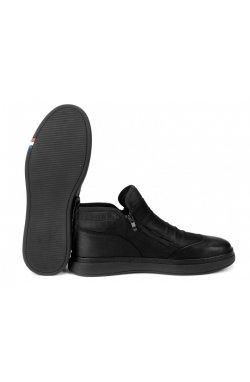Ботинки мужские Clemento 7214308 цвет черный, кожа, кожа-нубук