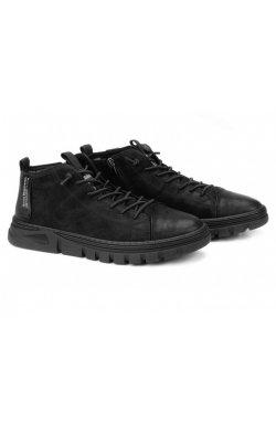 Ботинки мужские Clemento 7214316 цвет черный, кожа, кожа-нубук