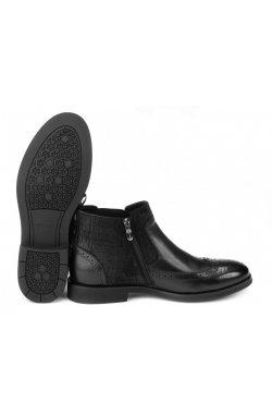 Ботинки мужские Carlo Delari 7214046 цвет черный, кожа
