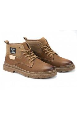 Ботинки мужские Dan Marest 7214166-Б цвет хаки, кожа
