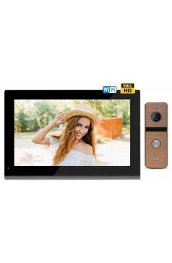 Комплект домофона CoVi Security TAB FHD Wi-Fi Black + Iron FHD Bronze