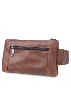 Кожаная сумка на пояс унисекс Vintage 20457 Коричневый