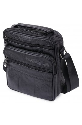 Кожаная мужская сумка Vintage 20466 Черный
