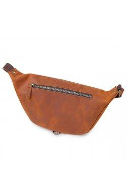Кожаная мужская винтажная сумка на пояс Vintage 20371 Коричневый