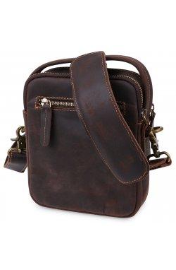 Кожаная мужская винтажная сумка Vintage 20372 Коричневый