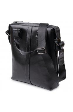 Кожаная мужская сумка Shvigel 11287 Черный