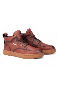 Ботинки мужские Clemento 7214315-Б цвет бордо, кожа