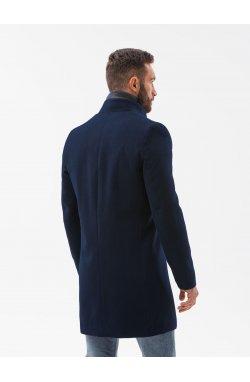 Мужской плащ C501 - темно-синий - Ombre