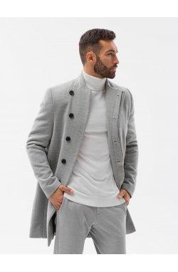 Мужской плащ C501 - серый меланж - Ombre
