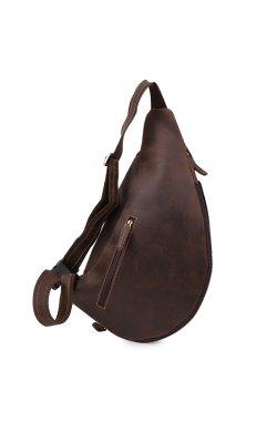 Кожаная мужская винтажная сумка через плечо Vintage 20373 Коричневый
