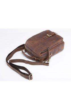 Мужская кожаная сумка через плечо, цвет коричневый, Bexhill bx035 Коричневый