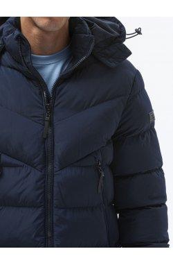 Мужская зимняя куртка C519 - темно-синий - Ombre