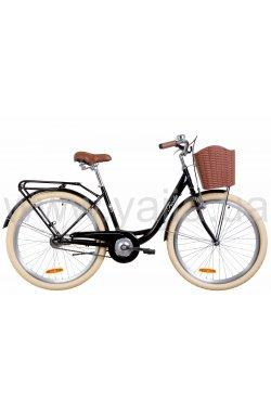 """Городской Велосипед Велосипед в коробке 26"""" Dorozhnik FIESTA тормозная ST с багажником зад St, с крылом St, с корзиной Pl 2021 ("""
