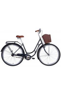 """Городской Велосипед Велосипед в коробке 28"""" Dorozhnik CLASSIC тормозная ST с багажником зад St, с крылом St, с корзиной Pl 2021"""