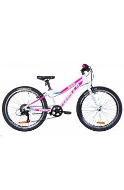 """Горный Велосипед Велосипед в коробке 24"""" Formula WOOD Vbr AL 2021 (бело-розовый с голубым (м))"""