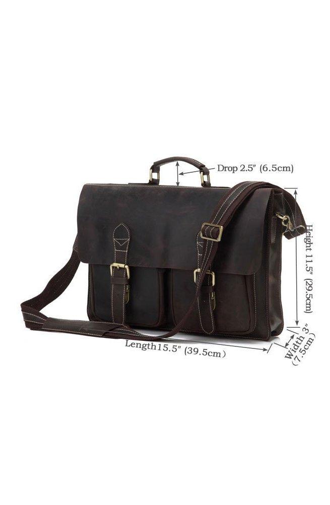 Портфель Tiding Bag 7105R - Натуральна шкіра, коричневий