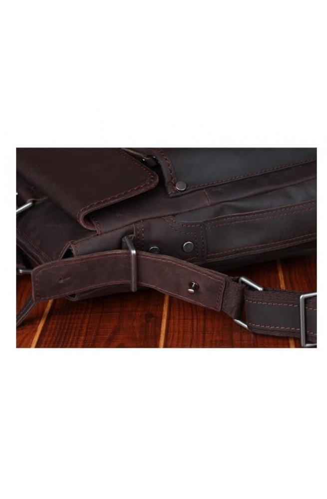 Сумка Tiding Bag t1096 - Натуральна шкіра, коричневий