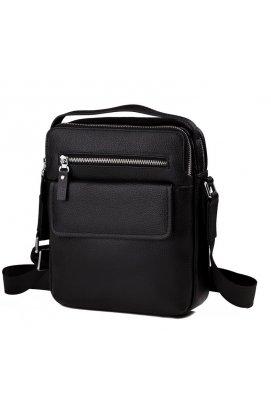 Мессенджер Tiding Bag M5609-1A - Натуральная кожа, черный