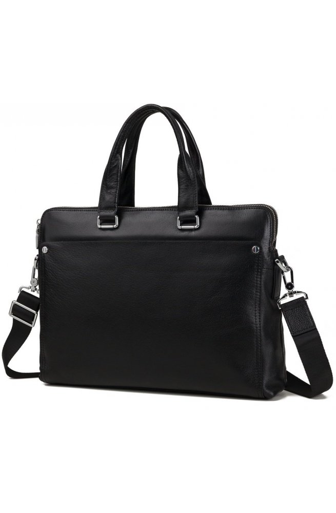 Сумка TIDING BAG M5861-3A - Натуральна шкіра, чорний