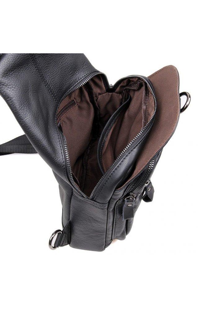 Рюкзак Tiding Bag 4005A - Натуральна шкіра, чорний
