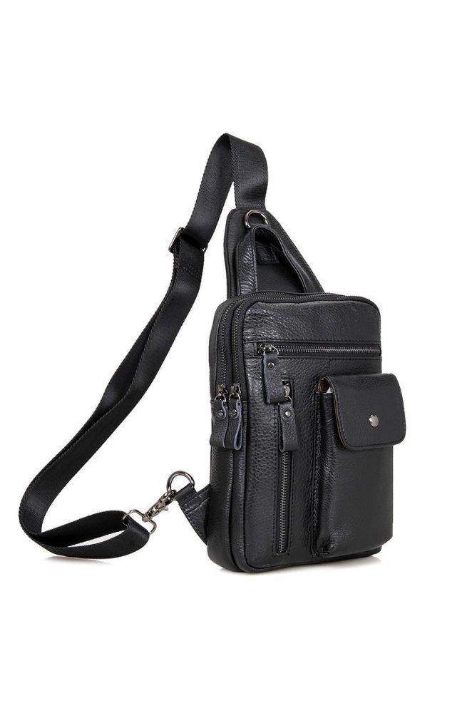 Шкіряний рюкзак Tiding Bag 4006A - Натуральна шкіра, чорний