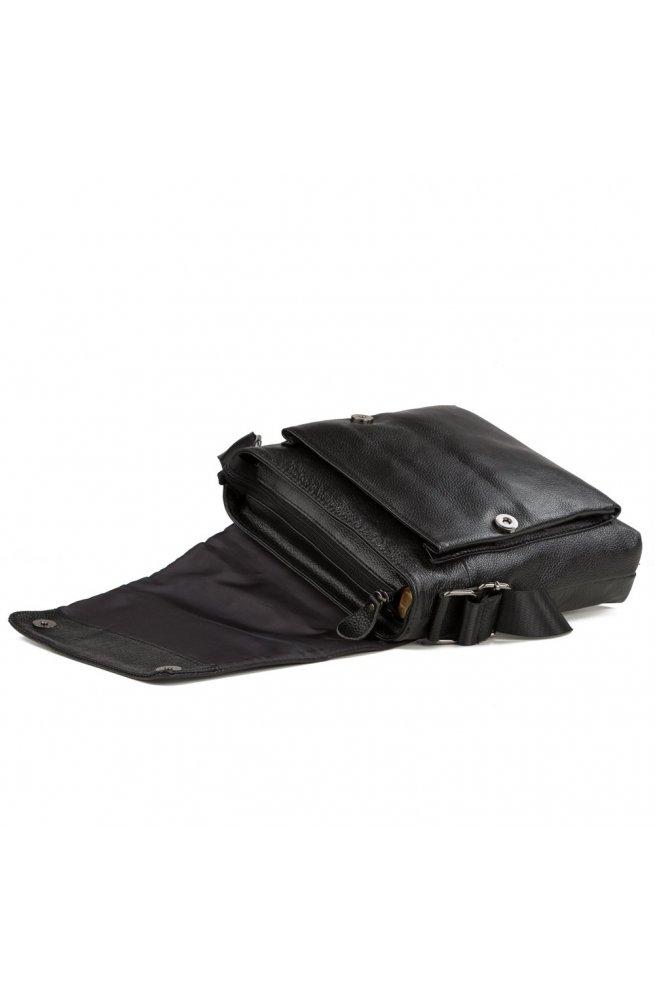 Мессенджер Tiding Bag A25-1278A - Натуральная кожа, черный